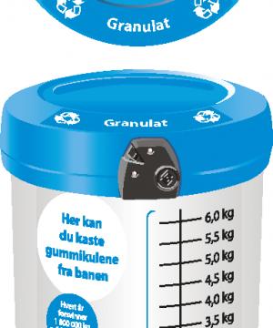 Avfallsbeholder for gummigranulat 180 L - utendørs - åpen