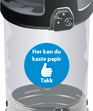 Avfallsbeholder for papir 180 L - utendørs - lukket