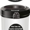 Avfallsbeholder for restavfall 180 L - utendørs - åpen