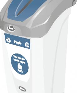 Avfallsbeholder for papir 30 L - innendørs med veggfeste